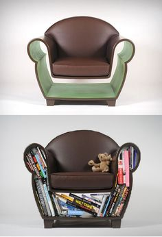 The hollow chair to hide books