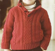 jersey niño Kids Knitting Patterns, Knitting For Kids, Baby Knitting, Baby Pullover, Crochet For Boys, Boys Sweaters, Baby Kind, Clothing Patterns, Knit Crochet