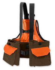 This versatile upland bird vest can be worn in a range of weather conditions.