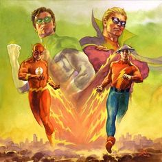 Golden Age vs Silver #Flash & #GreenLantern Age by Ray Lago