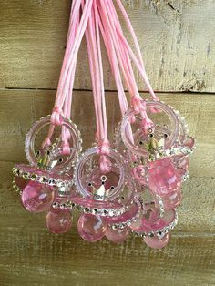 12 little princess baby shower pacifiers by