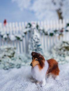 Dollhouse Miniature OOAK Artist Made Shetland Sheepdog