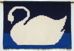 Swan tapestry designed and crocheted by Delores Chamblin