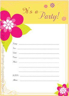 free printable luau party invitation we 3 printables pinterest