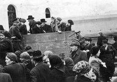 Jews being deported from Slovakia, March 1942. They were all headed to German concentration camps where they would be murdered.  World War Two