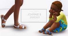 Onyx Sims: Johhnie B sandals for toddlers • Sims 4 Downloads
