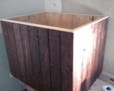 Japanese Ofuro-style Wooden Bathtub