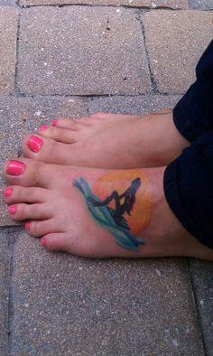 little mermaid tattoos - on foot