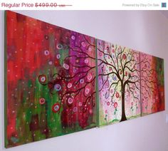3 day sale 40 off X  large original painting by jeanvadalsmith, $299.40