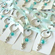 Kawartha Beads: Music Theme Wedding Shower Favors in Tiffany Blue