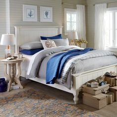 Caleb Panel Bed   With thick outer posts, clean lines, and beadboard-style paneling, the Caleb Bed blends traditional inspiration with soft, cottage-chic styling. Crafted of Appalachian hardwoods, this versatile piece offers a welcoming backdrop for a variety of bedding designs.