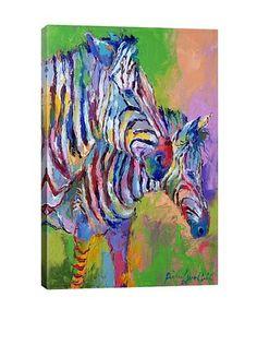 Zebra by Richard Wallich Giclée on Canvas $135
