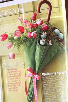 Cute door wreath for April