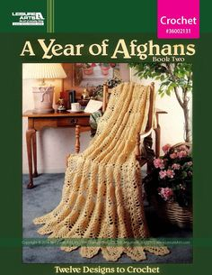 A Year of Afghans Book 2 eBook - Twelve designs for each month of the year -- each one destined as a heirloom, just waiting for your personal touch. These are the best of the best and come with step-by-step directions and beautiful color photography of each finished afghan. $12.99