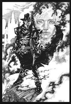 Gunslinger by olivernome on DeviantArt Dark Tower Art, The Dark Tower Series, Stephen King, Weird Science, Geek Art, Comic Art, The Darkest, Concept Art, Batman