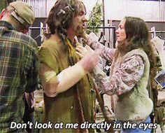 1k gifs the hobbit martin freeman ian mckellen peter jackson behind the scenes orlando bloom Evangeline Lilly Lee Pace the hobbit cast Sylvester McCoy James Nesbitt