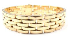 RARE Authentic Cartier Maillon Panthere 5 Rows 18K Yellow Gold Link Bracelet | eBay - $10,500