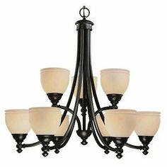Stanton Hills 9-Light Sable Bronze Patina Chandelier