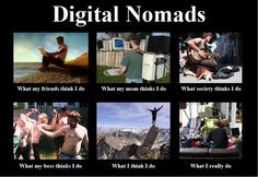 Armando made this for us- and other #digital #nomads like us. Makes me grin.