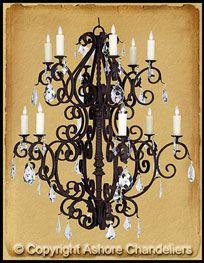 Special Monte Carla W Crystals Iron Chandeliers Wrought Iron Chandeliers Traditional Chandelier