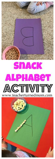 Want to combine snack time and learning? Then try this easy, fun, and education alphabet toddler activity!