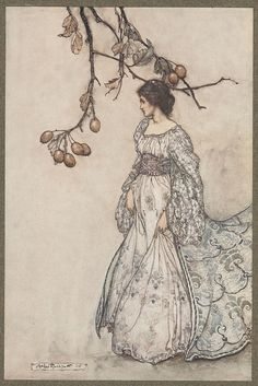 "Arthur Rackham: Queen Mab ""Feeling very undancy indeed"" from Peter Pan in Kensington Garden 1907"