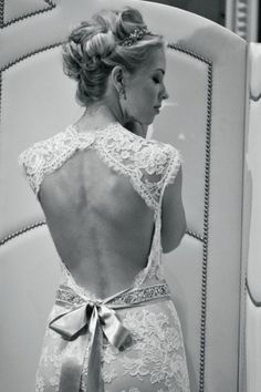 wedding dresses lace backless - Google Search