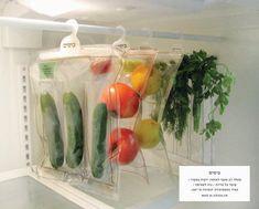 Pockets // Refrigerated vegetable packaging design by Danielle Vogel, via Behance