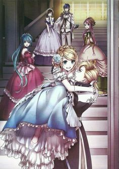 Vocaloid Kagamine Rin and Len, Hatsune Miku, Luka Megurine, Meiko and Kaito Rin E Len, Kagamine Rin And Len, Vocaloid Kaito, Manga Anime, Manga Art, Kawaii Anime, Meliodas And Elizabeth, Otaku, Mikuo