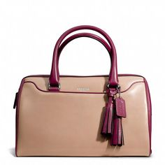 Coach  LEGACY HALEY SATCHEL IN TWO TONE LEATHER