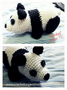 Osito Panda - Amigurumi - Patrón Español ~ Crochet para Ti Crochet Bear, Crochet Animals, Crochet Toys, Crochet Projects, Hello Kitty, Crochet Patterns, Sewing, Mini, Macrame