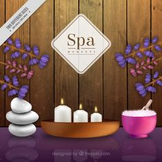 #Spa #Background that I have designed for #Freepik #SpaDesign #SpaBackground #GraphicDesign #RealisticDesign #ZenDesign #Candles #Flowers
