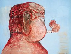 philip guston  friend - to M F, 1978  oil on canvas  172,7 X 223,5  Saatchi gallery