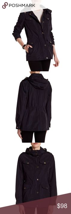 NWT Michael Kors Patch Pocket Hooded Anorak Navy M NWT Michael Kors Patch Pocket Hooded Anorak Navy Size: M original price: $200 MICHAEL Michael Kors Jackets & Coats Trench Coats