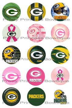 DIGITAL Bottlecap Images-Green Bay Packers-Ready To PRINT.