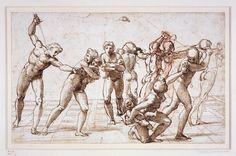 Raphael, Massacre of the Innocents  Datec. 1509, pen and brown ink with red chalk underdrawing, measurements23.1 x 37.4 cm