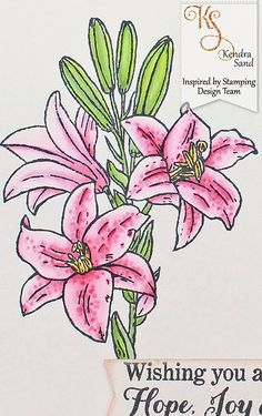Luv 2 Scrap n' Make Cards: Flower Of The Month: Easter Lily with IBS