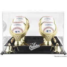 Baltimore Orioles Fanatics Authentic Golden Classic Four Baseball Logo Display Case - $84.99