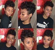 Hair Styles For School teenage hairstyles for school Black Dope Hairstyles, My Hairstyle, African Hairstyles, Braided Hairstyles, Hairstyles Videos, Hairstyles Pictures, Hairdos, Short Sassy Haircuts, Short Black Hairstyles
