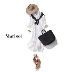 熱中症対策としても。おしゃれ帽子と白シャツワンピースでパリっと【2018/7/13コーデ】|Marisol ONLINE|女っぷり上々!40代をもっとキレイに。 Camel, Spring Fashion, Silhouette, Beige, Shirt Dress, My Love, My Style, Womens Fashion, Shirts