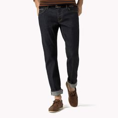 Tommy Hilfiger Selvedge Slim Fit Jeans - clean rinse wash (Blue) - Tommy Hilfiger Straight Fit - main image
