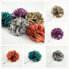 Plaid Flower Lapel Pins now available. www.kingkravate.com