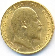 GREAT BRITAIN Full Sovereign Gold Coin Edward VII