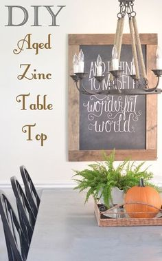 DIY Zinc Top Kitchen Table