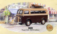 Modèle réduit Peugeot D3A Poste rurale 20ème siècle © L'Adresse Musée de La Poste / La Poste, DR