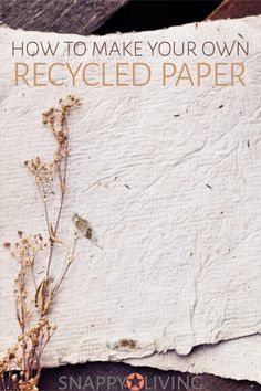 You can make recycled paper out of shredded paper and junk mail. It's pretty simple to do, and a lot of fun, too. Once you learn the basics of how to make recycled paper, you'll enjoy getting creative with the process. paper How to Make Homemade Paper How To Make Homemade, How To Make Paper, How To Recycle Paper, Paper Recycling Process, Recycler Diy, Crafts For Kids, Diy Crafts, Recycled Paper Crafts, Diy Recycling