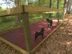 Shaded Dog Run pets : Outdoors : DIY Network