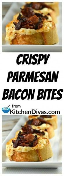 These Crispy Parmesan Bacon Bites are one of my favorite appetizers of all time! Perfect for any time of year! We have enjoyed these while watching a sporting event and served them for a variety of family occasions! Never any leftovers! Cheese and bacon. Need I say more? These bites are perfect for any audience. Kids and adults alike will eat all of these up! https://kitchendivas.com/crispy-parmesan-bacon-bites/ via @2kitchendivas