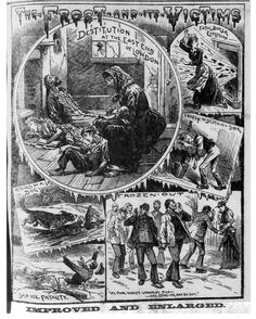 """The Illustrated Police News """"The frost and its victims"""""""