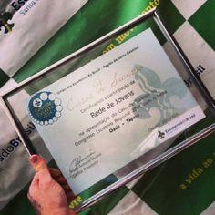 Prêmio que a Rede de Jovens - Santa Catarina, dos Escoteiros, ganhou referente a um Oasis realizado em parceria com a gsa 2012 Glenda Barcarol em 2013.